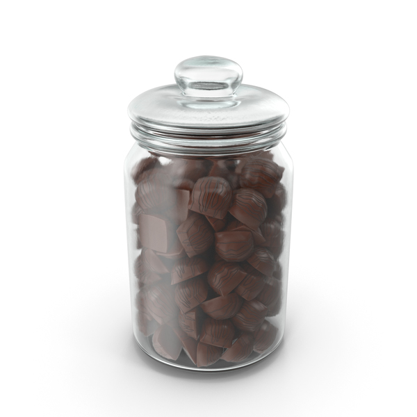 Jar with Mini Chocolate Candies PNG & PSD Images