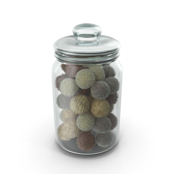 Jar With Mixed Chocolate Balls PNG & PSD Images