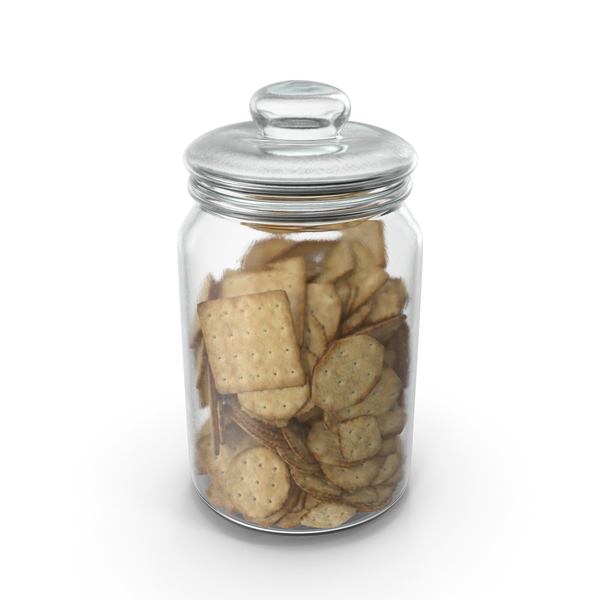 Jar with Mixed crackers PNG & PSD Images
