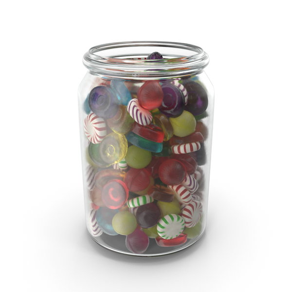 Jar with Mixed Hard Candy PNG & PSD Images