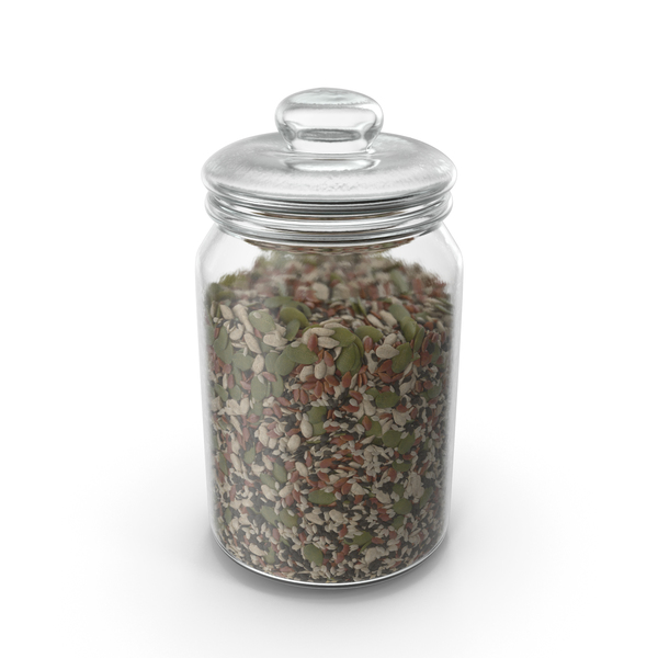 Jar With Mixed Healthy Seeds PNG & PSD Images