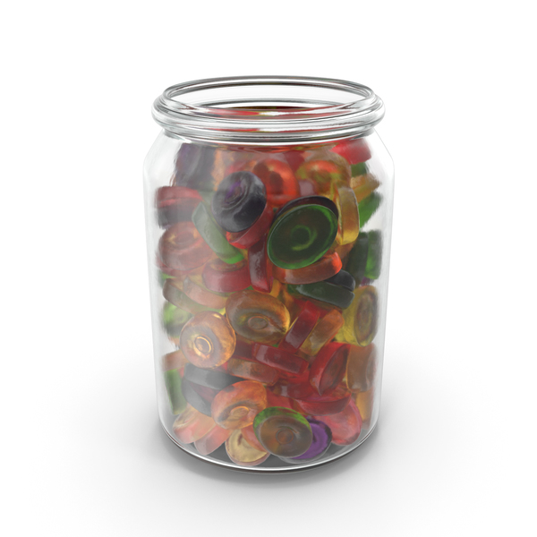 Jar With Oval Hard Candy PNG & PSD Images