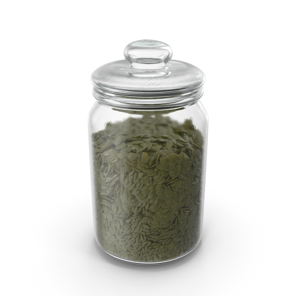 Jar with Peeled Pumpkin Seeds PNG & PSD Images