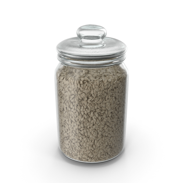 Jar with Peeled Sunflower Seeds PNG & PSD Images