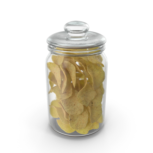Jar with Potato chips PNG & PSD Images