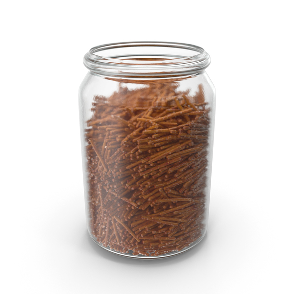 Jar With Salty Pretzel Sticks PNG & PSD Images