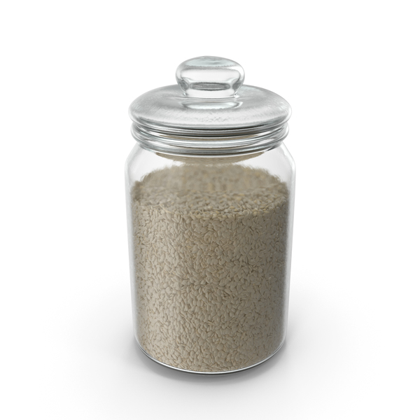 Jar with Sesame Seeds PNG & PSD Images