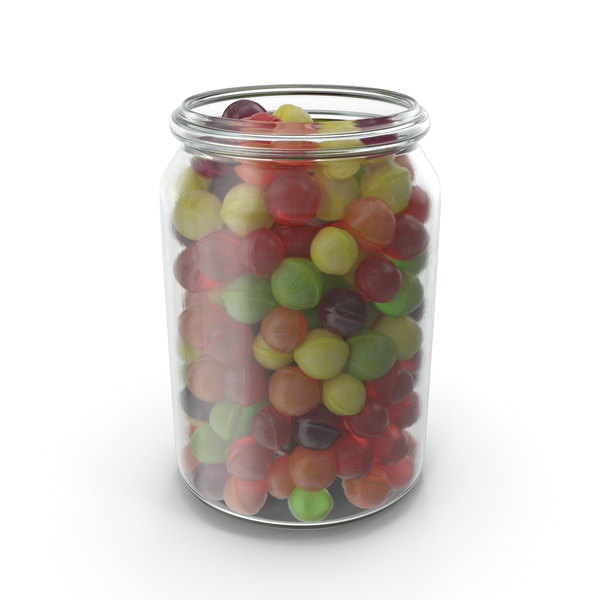 Jar with Spherical Hard Candy PNG & PSD Images