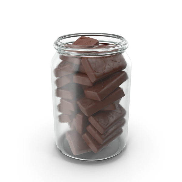 Cake: Jar with Sponge Cakes in Crisp Chocolate Cover PNG & PSD Images