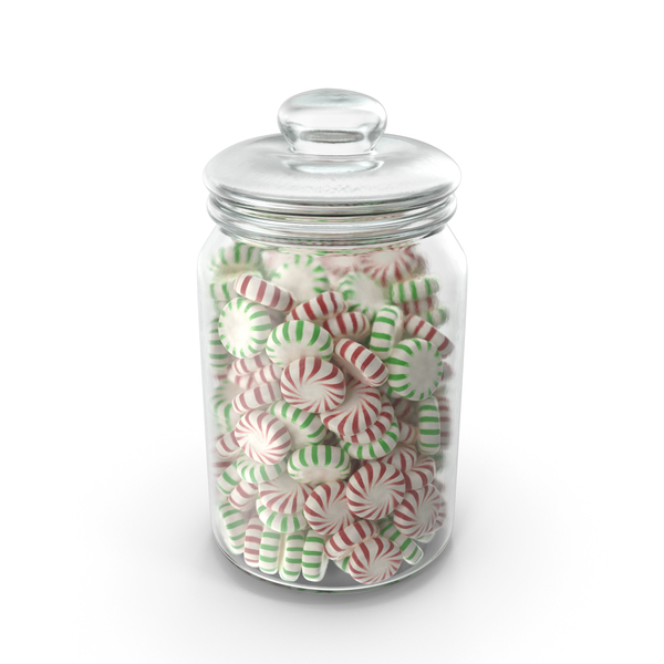 Jar with StarLight Peppermint Candy PNG & PSD Images