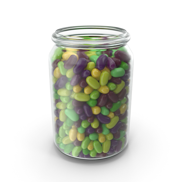Jar with Tropical Flavored Jelly Beans PNG & PSD Images