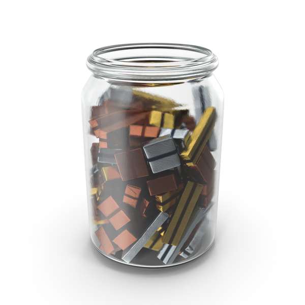 Jar with Wrapped Chocolate Candy PNG & PSD Images