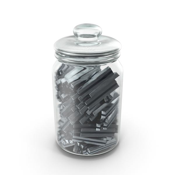 Jar with Wrapped Rectangle Chocolate Candy PNG & PSD Images