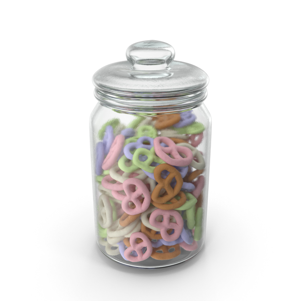 Jar with Yogurt Covered Pretzels PNG & PSD Images