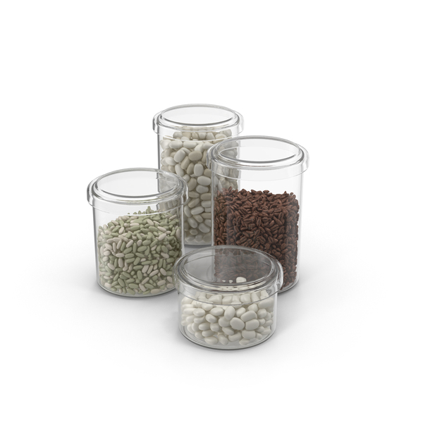 Jars Filled With Dried Beans PNG & PSD Images