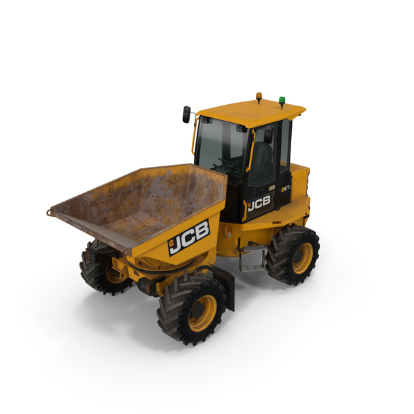 JCB 6T-1 Cabbed Site Dumper Dirty PNG & PSD Images