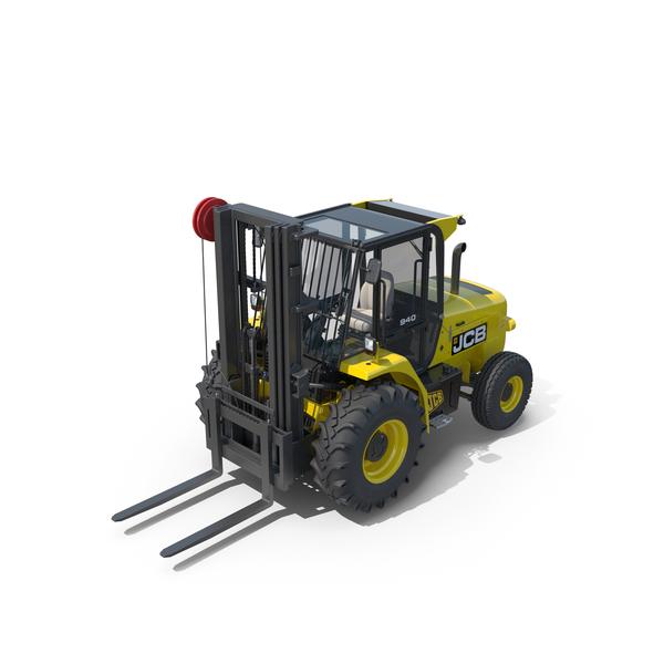JCB 940 Rough Terrain Forklift PNG & PSD Images