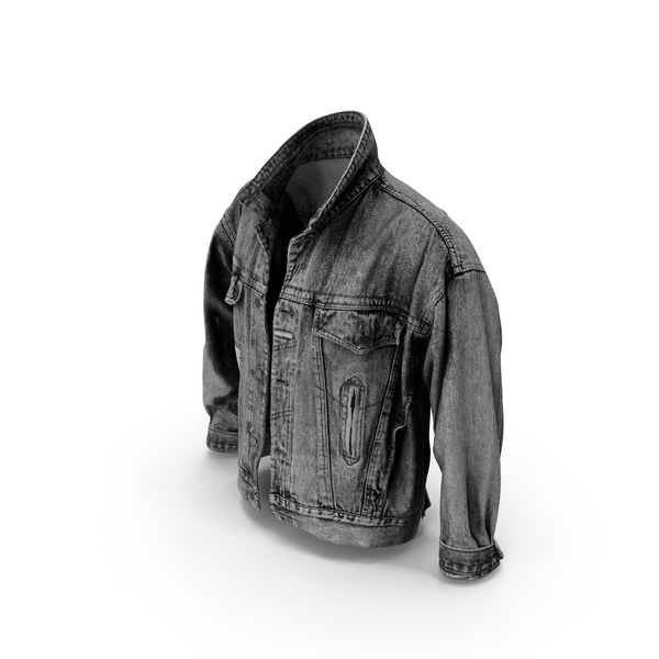Jean Jacket Dark Gray PNG & PSD Images