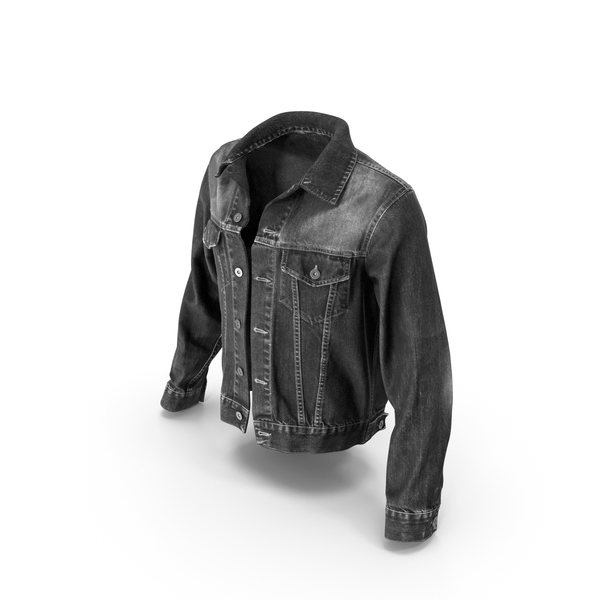 Jeans Jacket Dark Gray PNG & PSD Images