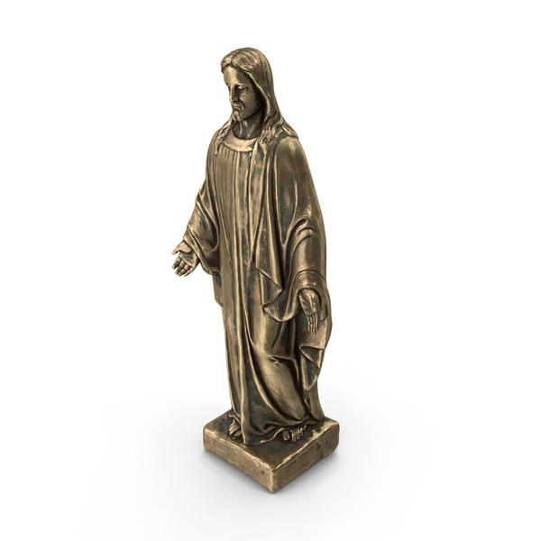Jesus Christ Bronze Statue PNG & PSD Images
