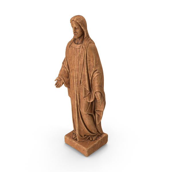 Jesus Christ Marble Statue PNG & PSD Images