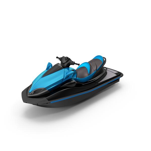 Jet Ski Blue Object