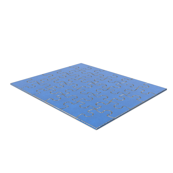 Jigsaw Puzzle 5x6 Steel Painted Blue PNG & PSD Images