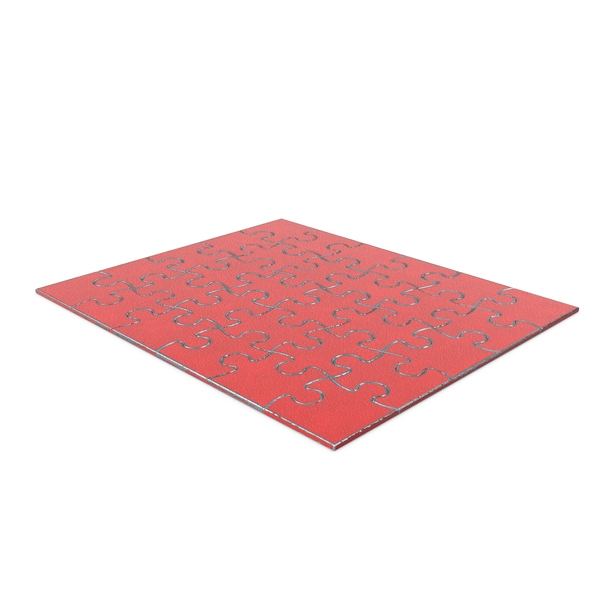 Jigsaw Puzzle 5x6 Steel Painted Red PNG & PSD Images