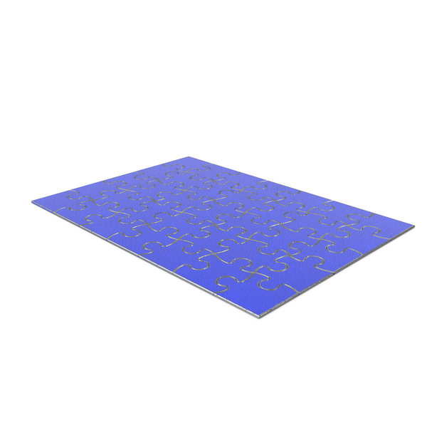 Jigsaw Puzzle 5x7 Metal Blue Painted PNG & PSD Images