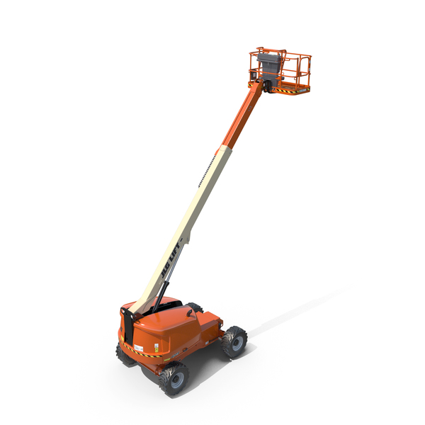 JLG 400S Telescopic Boom Lift Cherry Picker PNG & PSD Images