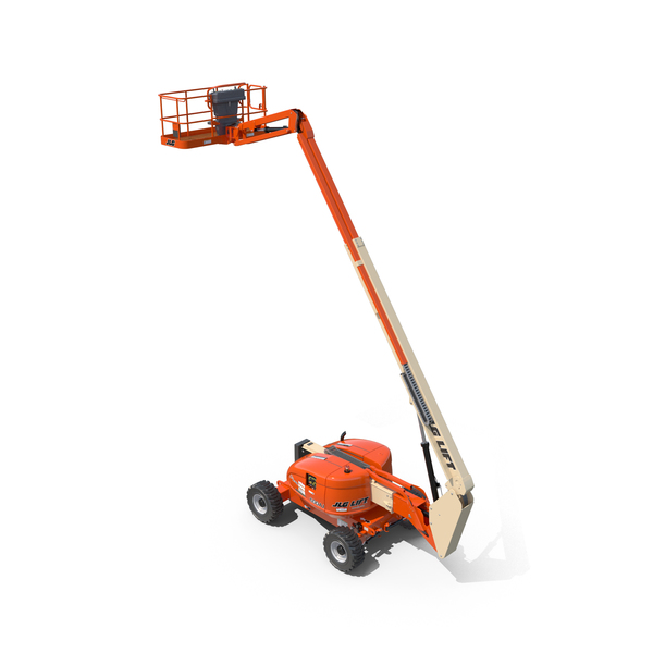 JLG 600AJ Telescopic Boom Lift Cherry Picker PNG & PSD Images
