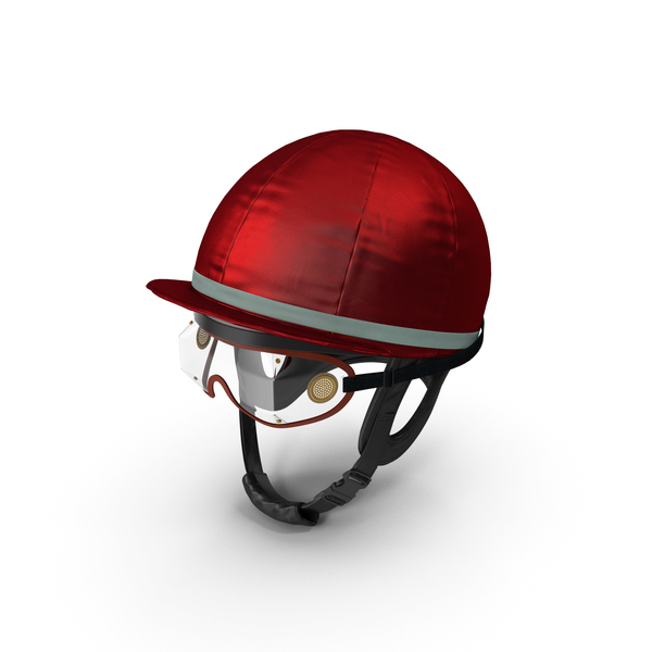 Jockeys Racing Helmet With Goggles PNG & PSD Images