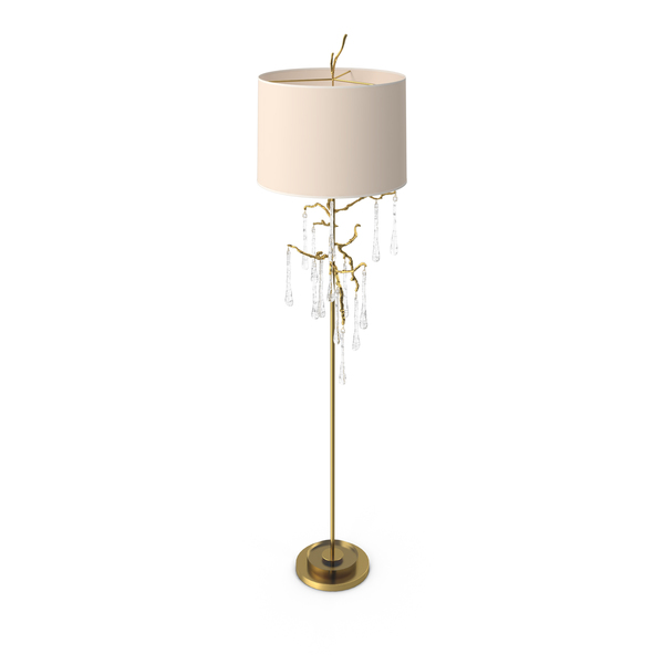 John Richard Crystal Drip Floor Lamp PNG & PSD Images