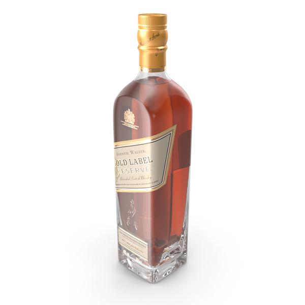 Whiskey: Johnnie Walker Gold Label Bottle PNG & PSD Images