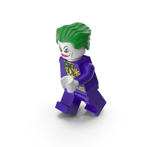 Lego Brick: Joker Running PNG & PSD Images