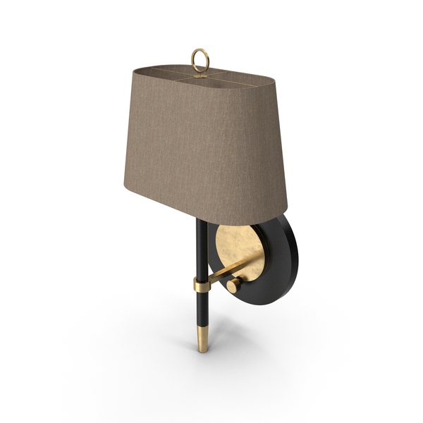 Jonathan Adler Ventana Brass Plug-In Wall Lamp PNG & PSD Images