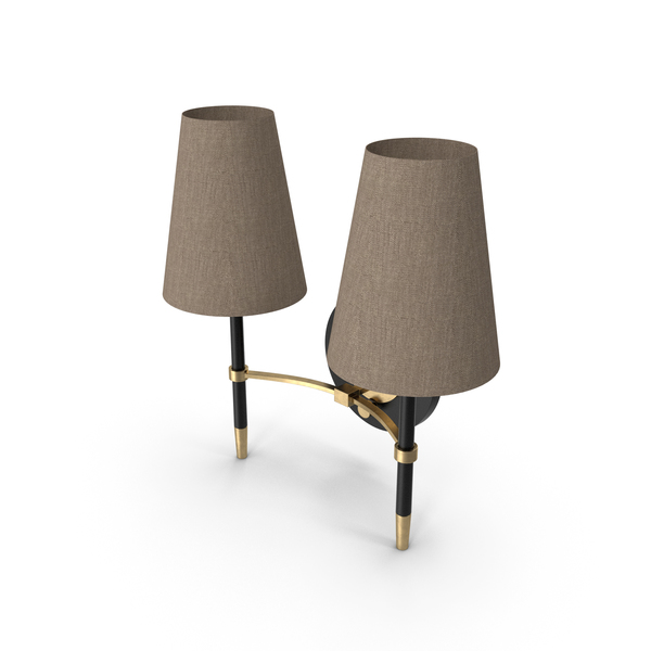 Jonathan Adler Ventana16 14H Brass Plug-In Wall Sconce PNG & PSD Images