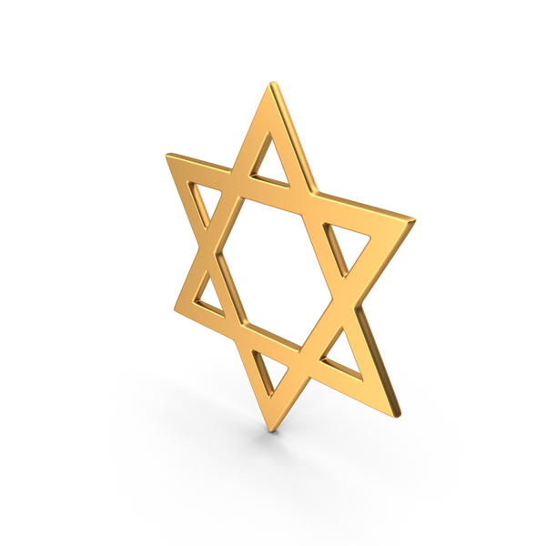 Judaism Star of David Symbol Gold PNG & PSD Images