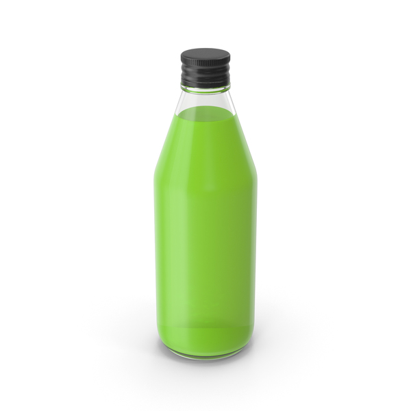 Juice Bottle Green No Label PNG & PSD Images