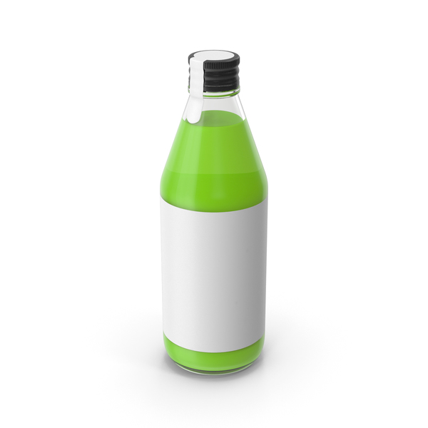 Juice Bottle Green PNG & PSD Images