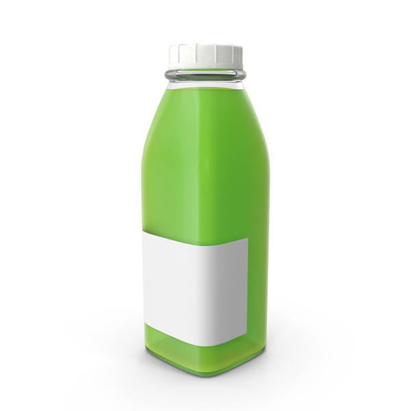 Juice Bottle Mockup Green Object