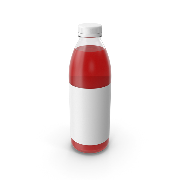Juice Bottle Red PNG & PSD Images