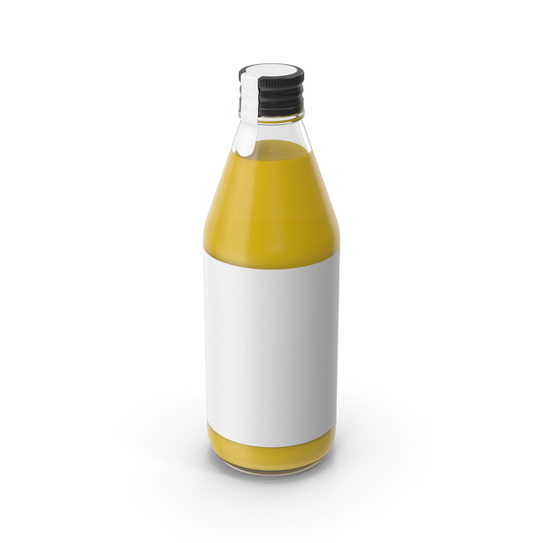 Juice Bottle Yellow PNG & PSD Images