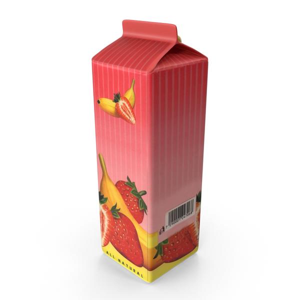 Juice Carton Strawberry Banna PNG & PSD Images