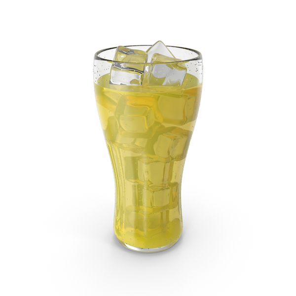 Juice Glass Yellow PNG & PSD Images