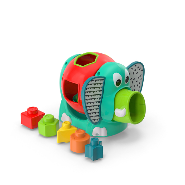 Jumbo Elephant Shape Sorter Toy PNG & PSD Images