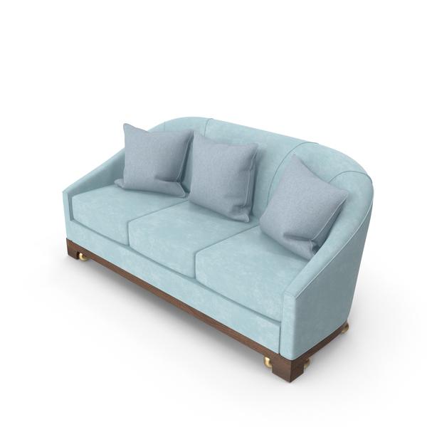 Junket Curved Sofa PNG & PSD Images