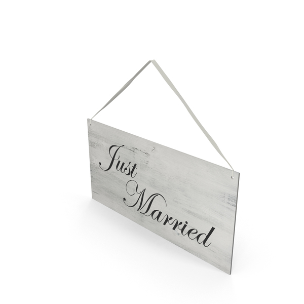 Just Married Sign PNG & PSD Images