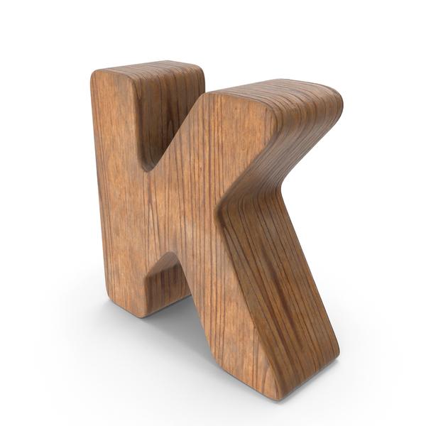 K Wooden Letter PNG & PSD Images