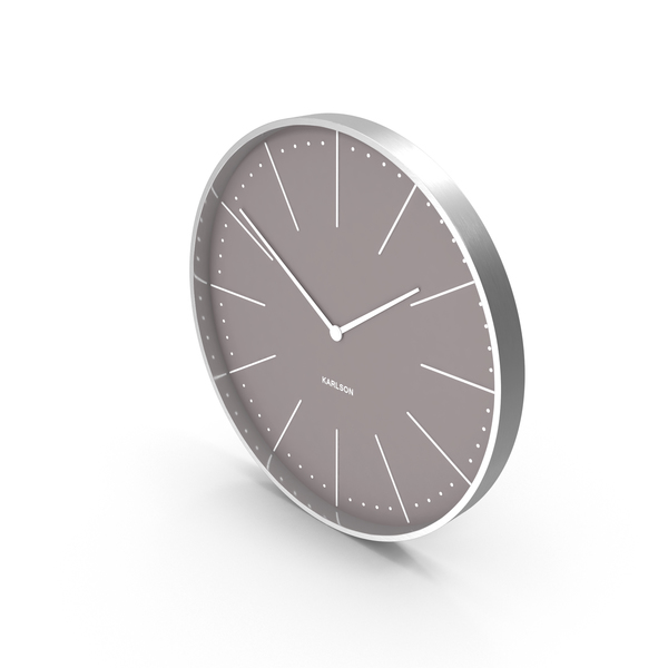 Karlson Normann Wall Clock Grey PNG & PSD Images